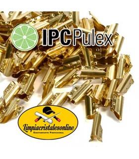 Clips Pulex de Latón para Rasqueta Limpiacristales