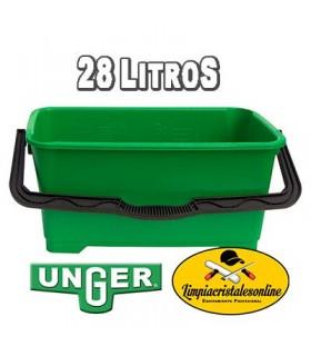 Cubo Limpiacristales Unger 28 litros